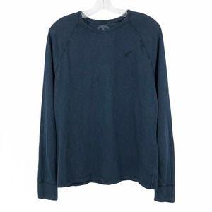 American Eagle Legend T Shirt  Raglan Navy Blue Sm